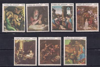 1969 Mnh Paraguay Christmas Stamps - Paintings - A26