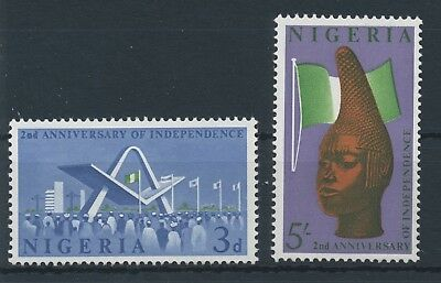 Nigeria 1962 2 Years of Independence MiNr. 123 - 124 MNH / **