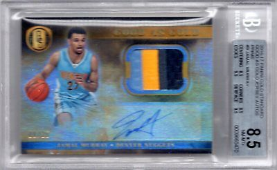 Jamal Murray 2016-17 Gold Standard Good as Gold ROOKIE PATCH AUTO #8/25 BGS 8.5