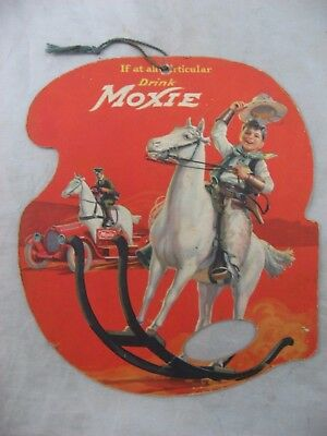 1922 Moxie Advertising Hand Fan Promo Soda Pop Rare Western T.n.t. Vintage