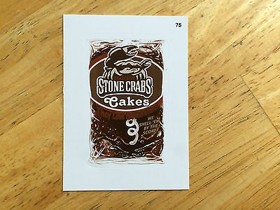 2016 Topps Mlb Wacky Packages Sepia Sticker Charlotte Stone Crabs Cakes 75 Nc