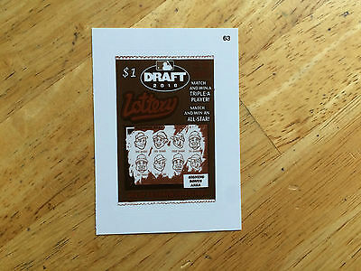2016 Topps Mlb Wacky Packages Sepia Sticker Draft Lottery Scratch Off 63 $1 Fun