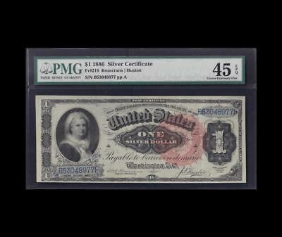 1886 $1 Silver Certificate Martha Pmg Choice Extremely Fine Epq