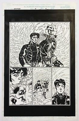 Ghost Rider #84 page 13 Pop Mhan Original Art 1997 Marvel Half Splash