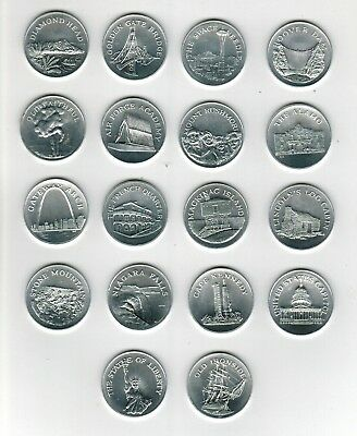 (18) 1969 Sunoco Different Landmarks of America Coin Collection Lot