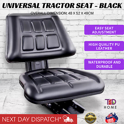 New UNIVERSAL TRACTOR FORKLIFT EXCAVATOR SEAT Backrest Chair PU Leather Bobcat