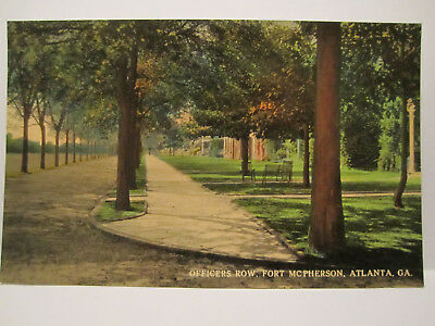 Officers Row Fort Mcpherson Postcard Atlanta Ga Georgia 1910