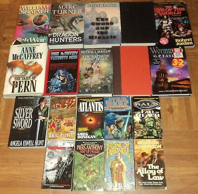"""""""SCIENCE FICTION / FANTASY"""" BOOK COLLECTION - Lot of 19 - Great Reading!!"""
