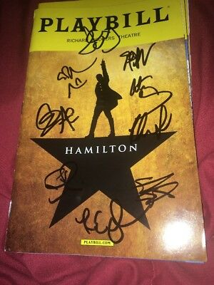 Hamilton Original Broadway Cast Signed Playbill Lin Manuel Miranda Groff Disney