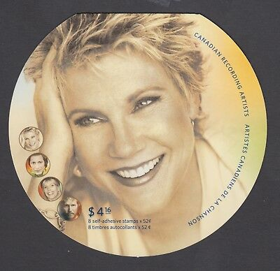 CANADA BOOKLET BK353 8 x 52c CANADIAN RECORDING ARTIST, ANNE MURRAY