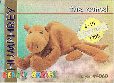 c45eb0826a6 TY Beanie Babies BBOC Card - Series 1 Retired (GOLD) - HUMPHREY the Camel