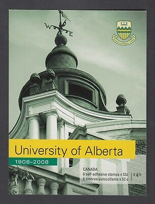 CANADA BOOKLET BK370 8 x 52c UNIVERSITY OF ALBERTA