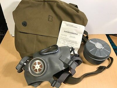 M9 style FINNISH Gas Mask, Filter and Carry Bag Set  (New/Old Stock)