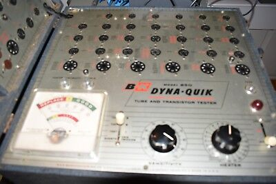One B and K Model 650 Dyna-Quick Mutual Conductance Vacuum Tube Tester