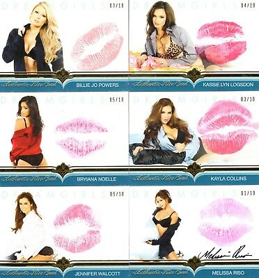 2018 Dreamgirls Update Auto MELISSA RISO 01/10 AUTOGRAPH KISS CARD Benchwarmer