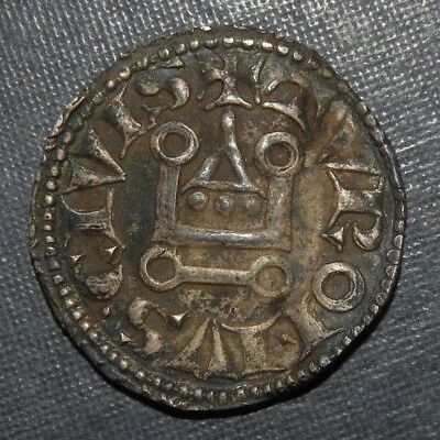 Medieval Crusader Cross Coin Antique 1150-1350 AD Silver Knight Templar Europe