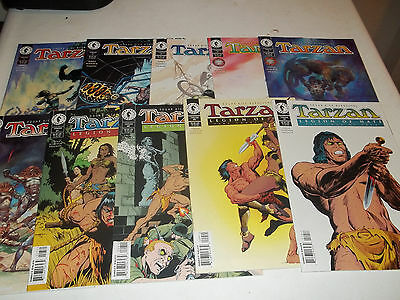 Tarzan # 1-10--complete run--Bruce Jones,Christopher Schenck--Dark Horse--VF+