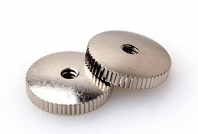 Domed Thumbwheels Nickel Plated Fits Gibson Es / Sg with Bigsby/Maestro Vibrola