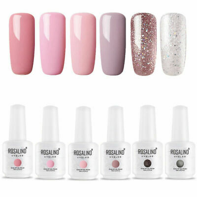 ROSALIND Nail Art Gel Nail Polish Manicure Soak Off UV LED Base Top Coat 15ML