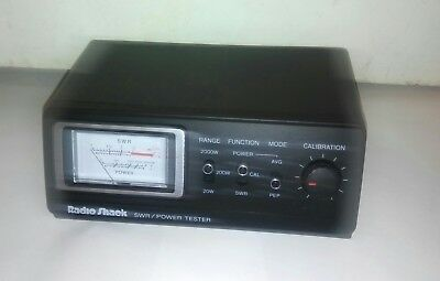 Radio Shack Swr Power Meter Model 21-524 For Cb Or Ham 3-30 Mhz Frequency Range