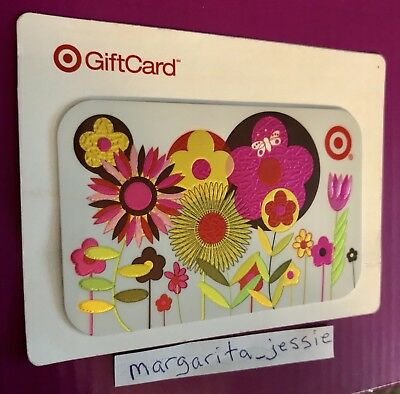 TARGET GIFT CARD 2008 VINTAGE 70's FLOWER POWER NO VALUE NEW