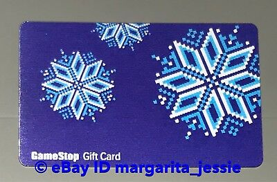 "Game Stop Lenticular Gift Card ""winter Snowflakes"" No Value New"