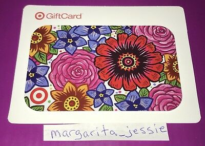 Target Gift Card Holiday 2014 Spring Flowers No Value New
