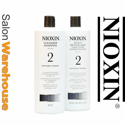 Nioxin System 2 Shampoo And Conditioner 1 Litre Duo   Australian  wholesale