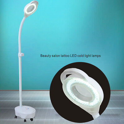 120LED Magnifying Lamp Glass Lens Beauty Illuminated Light Magnifier Floor Stand