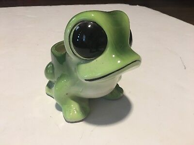 Vintage Frog Planter Relpo Big Eyes and Mouth Garden Flower Pot