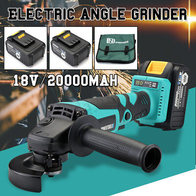 Angle Grinder Brushless Electric Metal Cut Off Tool 240V 100MM 20000mAh + Handle