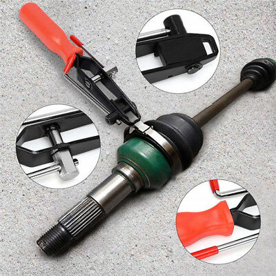 Automotive CV Joint Boot Banding Clamp Crimper Tool With Cutter Pliers Black+Red