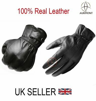 Mens Real Leather Gloves Thermal Thinsulate Lined Driving Soft Warm Winter Gift