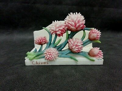 Floral Ceramic Pottery Letter Rack Titled Chives by Shudehill