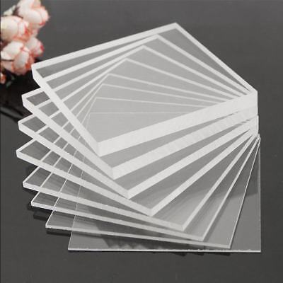 2/3/4/5/6/8/10mm Thick Clear Acrylic Perspex Sheet Plastic Panel Cut Multi Size