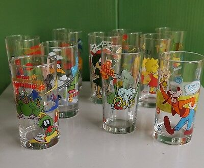 Various Nutella IXL, Jam Looney Tune Disney, Simpson Collector Drinking Glasses