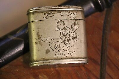 Antique Chinese Opium Canister Case Box