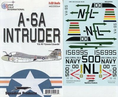 SuperScale Decals 1:32 A-6A Intruder VA-95 Green Lizards #MS320264