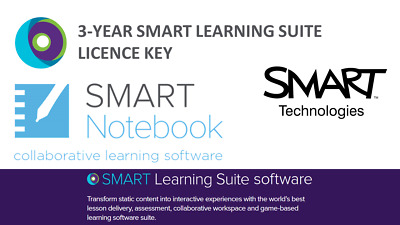 1x SMART Notebook 3-Year Learning Suite Software Licence Interactive Whiteboard