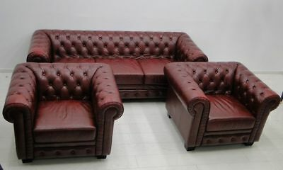 5888D-Set-Chesterfield-Sitzgruppe-Couch-Sofa-Lederbank-Chesterfield-Bank-Sessel-