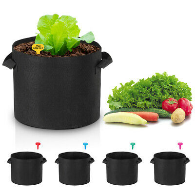 5 Pack Grow Bags Fabric Pots Root Pouch with Handles Planting Container 5 Gallon