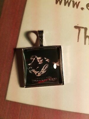 Horror Necklace: Glass Pendant Of Sweeney Todd Movie Poster