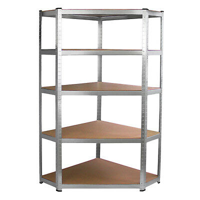 Heavy Duty Metal Corner Racking Garage Shelving 5 Tier Galwix Galvanised Steel