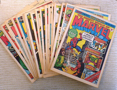 The Mighty World Of Marvel - 17 Comic Lot 3 21-22 27 30-32 35 39-45 48 53 - 1972