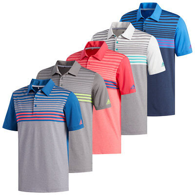 fc478bc510 ADIDAS 1247 MEN'S Ultimate 3 Stripe Polo Athletic Golf Casual T ...