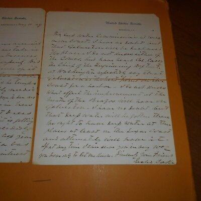 Richard Coke (1829–1897), Texas politician Hand Signed & Written 2 Page Letter