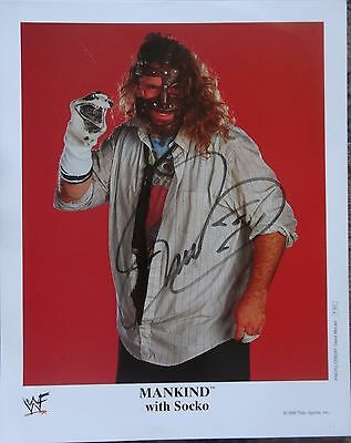 WWE 8 x10 inch MICK FOLEY MANKIND P501 Signed Photo  W/ COA Original Not a Copy