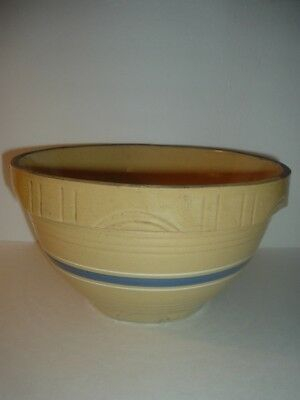 Oven Ware Mixing Bowl Blue Band 10 1/2 Inch Vintage