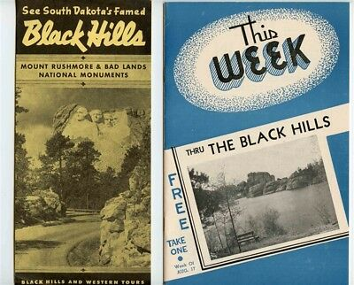 Lot of 1950's Black Hills of South Dakota Tourist Booklets Brochures and More