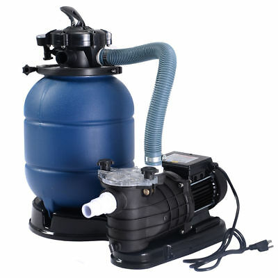 """Pro 2450GPH 13"""" Sand Filter Above Ground 10000GAL Swimming Pool Pump New"""